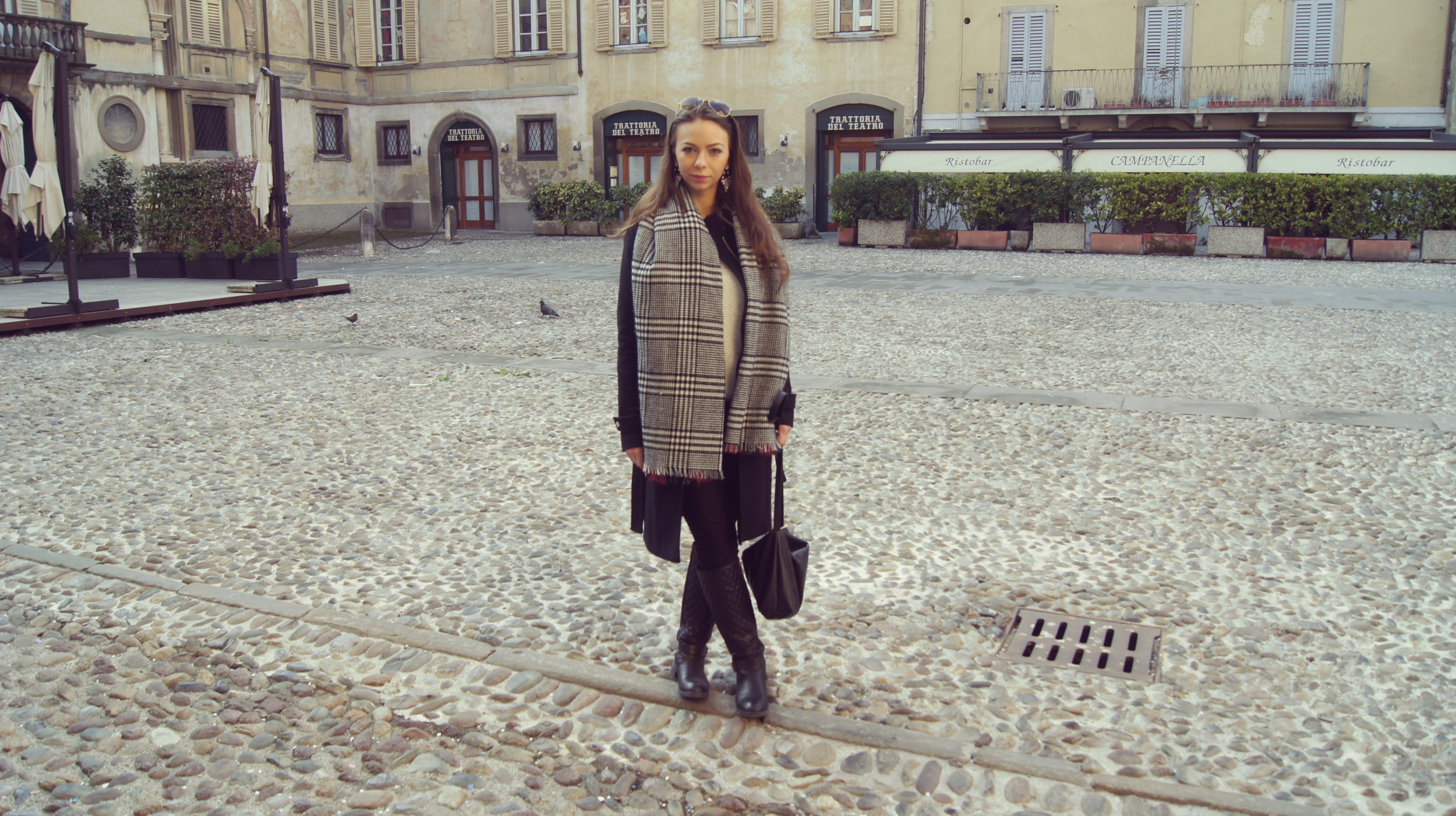 my outfit in Bergamo